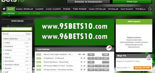 95Bets10.com ve 96Bets10.com Giriş Adresleri